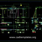 Machine Rails Elevation and Sections details CAD Template DWG