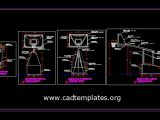 Mobile Basketball Boards Elevation Details CAD Template DWG