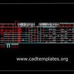 Multistorey Car Park Elevation Details CAD Template DWG
