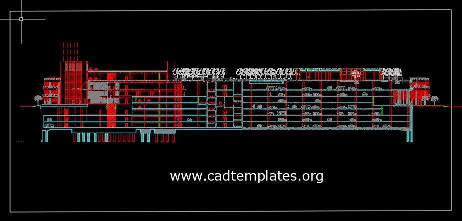 Multistorey Car Park Elevation Details CAD Template DWG