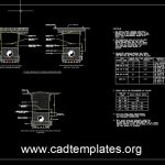 Potable Water Supply Trench Details CAD Template DWG