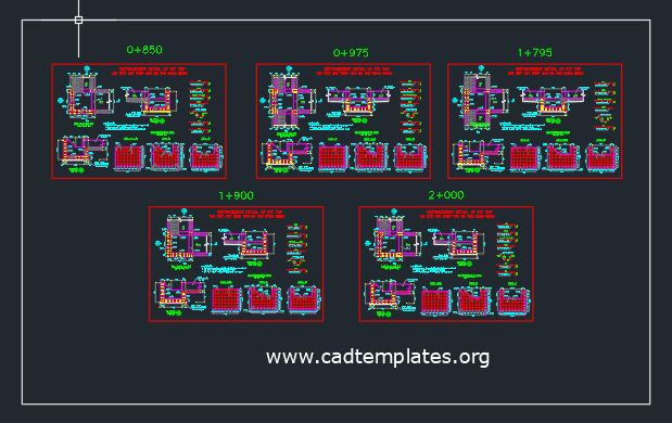Reinforcement Details Of Pit Pot CAD Template DWG