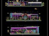 Shopping Center Elevations CAD Template DWG