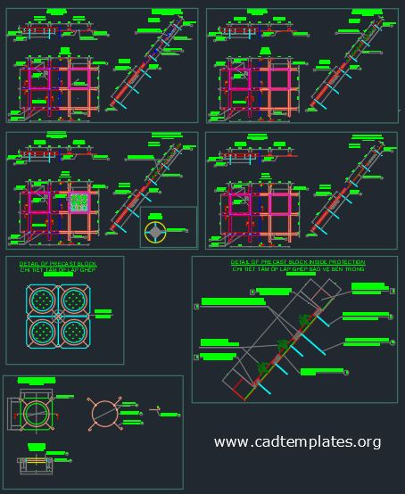 Slope Protection Sections Details CAD Template DWG