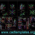 Steel Bridge Connection Details CAD Template DWG