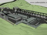 Steel Bridges SketchUp Model CAD Template SKP