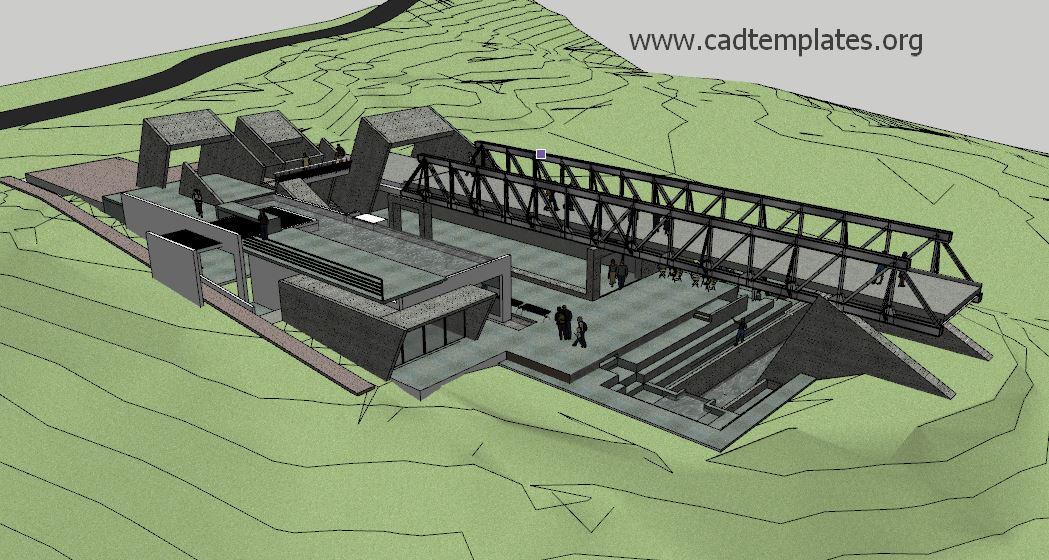 Steel Bridges SketchUp Model CAD Template SKP