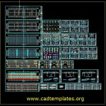 Steel Structure Design With All Elements Details CAD Template DWG