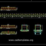 Steel Truss Bridge Cross Section CAD Template DWG
