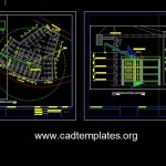 Tower Crane Elevation and Location Details CAD Template DWG