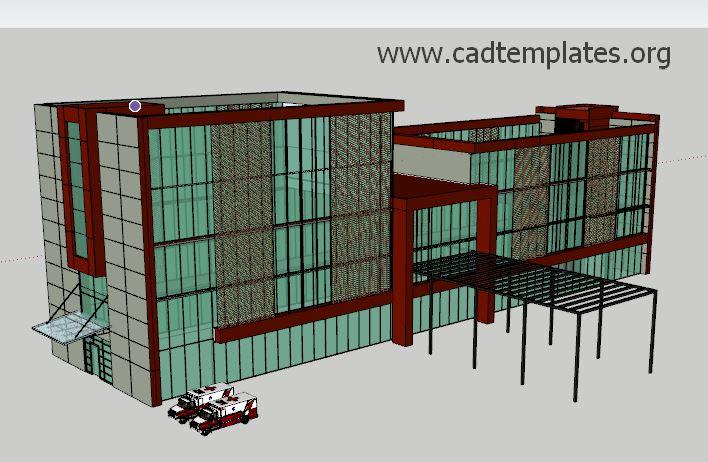 Villa Project SketchUp CAD Template SKP