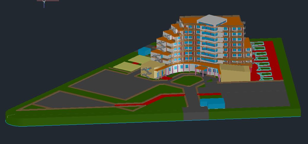 5-Star Hotel 3d Model CAD Template DWG