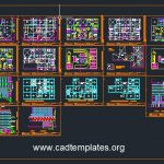 7-Storey Apartement Building Layout Plans CAD Template DWG