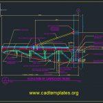 Cantilever Truss Elevation Details CAD Template DWG