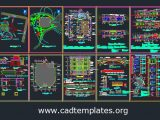 Coffee Shop Project Layout Plan and Details CAD Template DWG