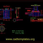 Foundations For Isolators Details CAD Template DWG