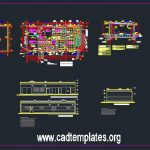 High Voltage Substation Building Architecture Design CAD Template DWG