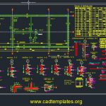 High Voltage Substation Building Construction Design CAD Template DWG