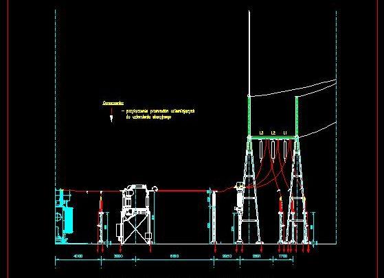 High Voltage Switchyard Scheme Details CAD Template DWG