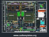 Industrial Plant Project Layout Plan and Details CAD Template DWG