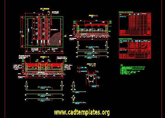 Shunt Reactor Stand Foundation Details CAD Template DWG