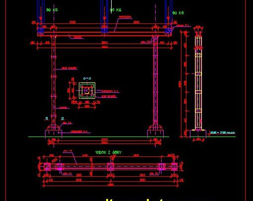 Supporting Structures For Isolators Details CAD Template DWG