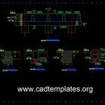 Bridge CAP Beam Reinforcement Details CAD Template DWG