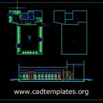 Computer Classroom Building Plan and Elevation CAD Template DWG