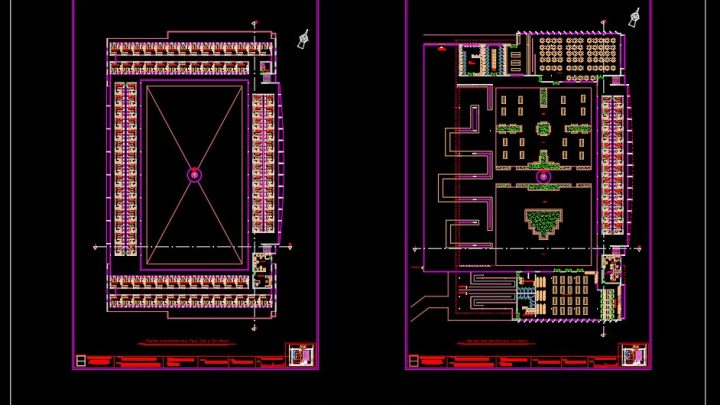 Preventive Jail Layout Plan CAD Template DWG
