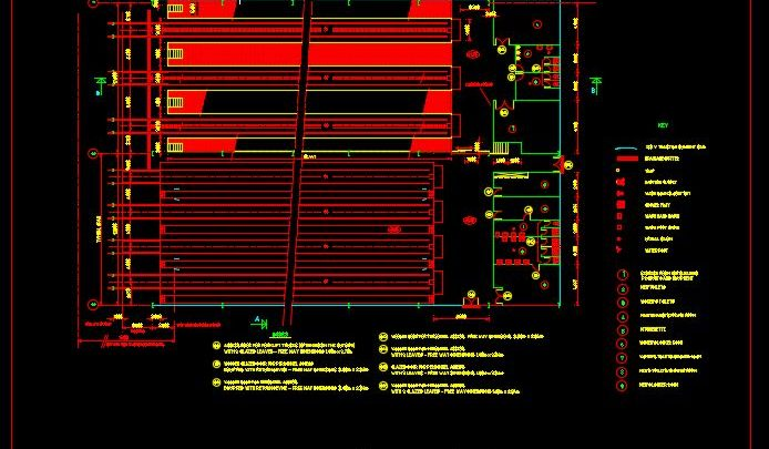 Siding Tracks Layout Plan CAD Template DWG