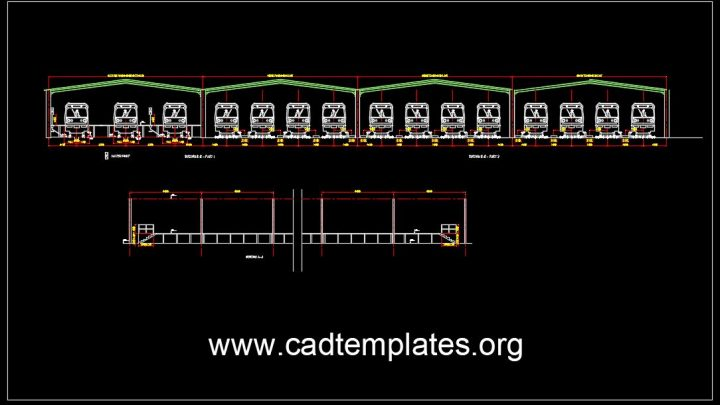 Siding Tracks Section CAD Template DWG