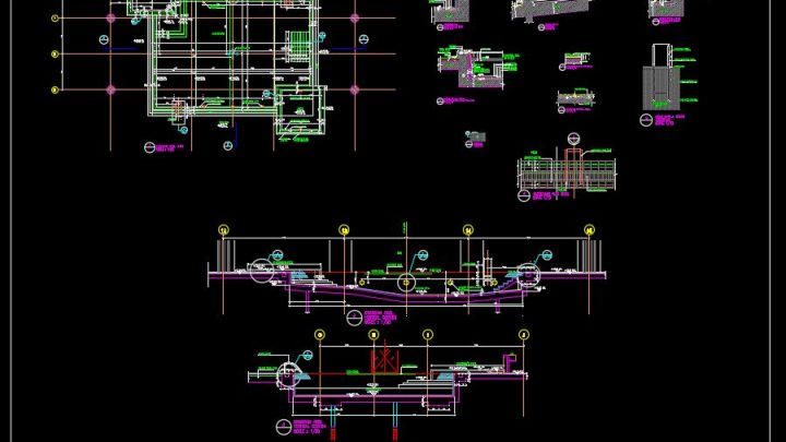 Swimming Pool Elevation and Sections Details CAD Template DWG