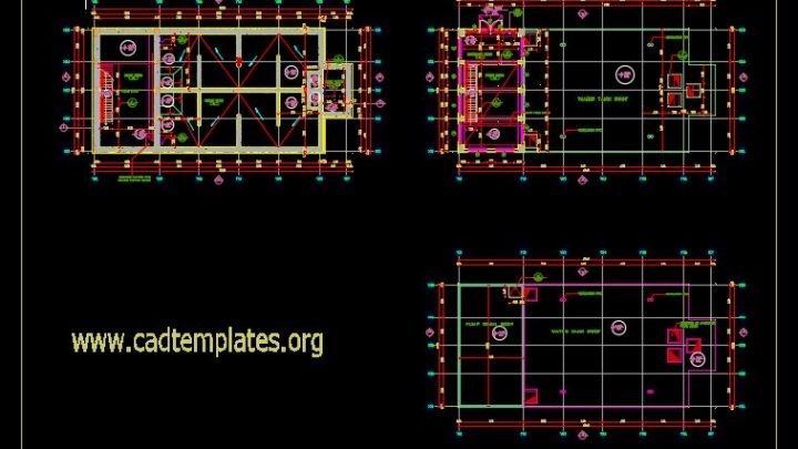 Water Tank Sections CAD Template DWG