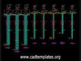 Working Piles Reinforcement Details CAD Template DWG
