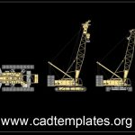 Crawler Crane Elevation and Plan details CAD Template DWG