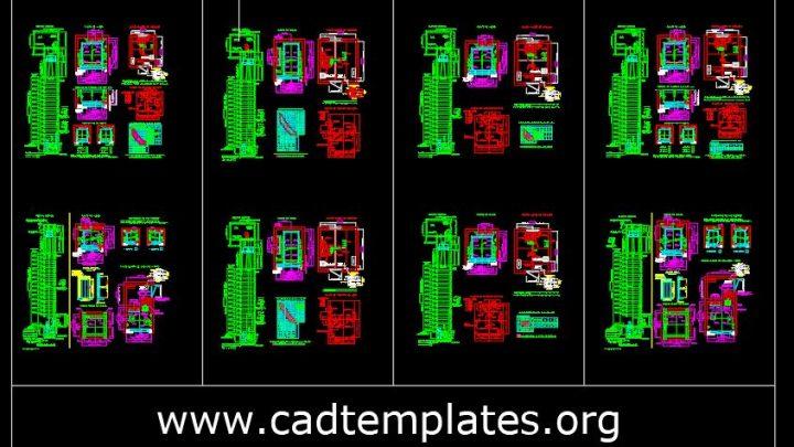 Elevators Autocad Design Blocks CAD Template DWG