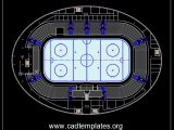 Hockey Arena Layout Plan CAD Template DWG
