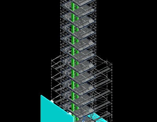 Multidirectional Scaffolding Tower 3D Model CAD Template DWG