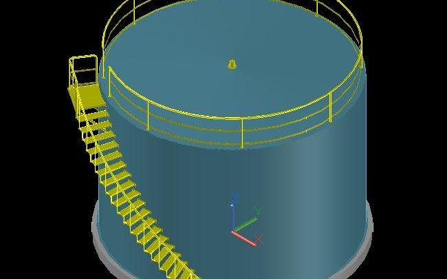Oil Tanker Ladder 3D Model CAD Template DWG