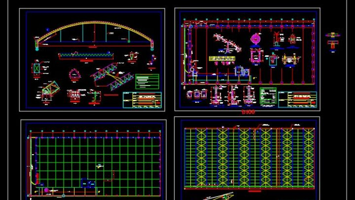 Storage Hangar With Control Room Details CAD Template DWG