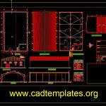 Storage Hanger Layout and Elevation Details CAD Template DWG