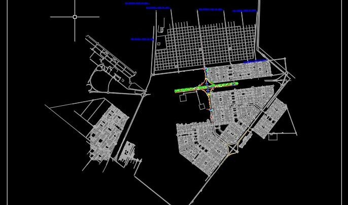 Topographic Survey For Urban Plan CAD Template DWG